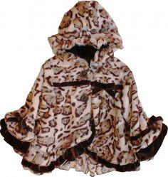 Isobella & Chloe Dixie Heart Leopard Coat