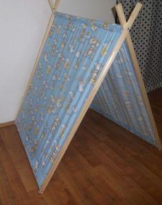 Dětský stan do pokojíčku, domeček do dětského  pokoje s dřevěnou konstrukci