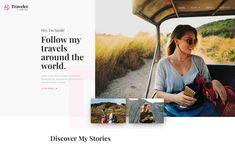 7. Traveler – Travel Website Template Web Design Tools, Tool Design, Travel Website Templates, Blog Websites, Magazine Website, Web Design Inspiration, Sorting, Posts, Tags