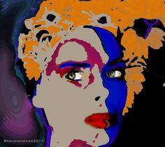 Digital Art   Portrait Paintings   Potrait Illustration   Self-Portrait by Banu Haznedar