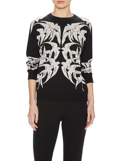 Graphic Silk Sweater by Alexander McQueen at Gilt