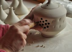 Teapots...Parts Making a Whole, Lucy Fagella Pottery