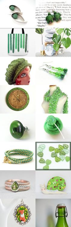 It's EASY Being Green! by Vicki Bolen on Etsy--Pinned with TreasuryPin.com