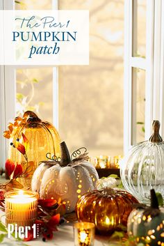With their lustrous gleam and pleasantly plump shapes, Pier 1's handblown glass pumpkins look to have been harvested from their very own fairy-tale garden. Ripe for the picking in a dazzling array of sizes, shapes, fantasy colors and fantastic finishes, our pumpkins are ready to entice and enchant all season long.