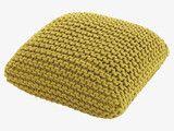 KNOT small yellow floor cushion