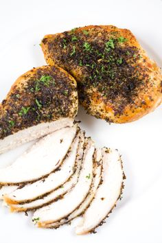 How To Make Herb Roasted Chicken Breasts - The most quick, easy and BEST way to roast chicken breasts - perfectly tender, packed with flavor and super healthy!!