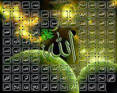 99 names of Al-Mighty Allah