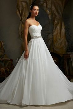 Cheap dress patterns evening gowns, Buy Quality dresses celebrities directly from China dress robe Suppliers: New Arrival White Chiffon Wedding Dresses vestido de noiva Sweetheart Beading Simple Elegant Bridal Gown Plus Size Delicate Wedding Dress, Wedding Dress Train, Sweetheart Wedding Dress, Best Wedding Dresses, Bridal Dresses, Wedding Gowns, Bridesmaid Dresses, Prom Dresses, Pageant Gowns