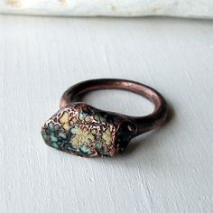 Copper Ring Turquoise December Birthstone
