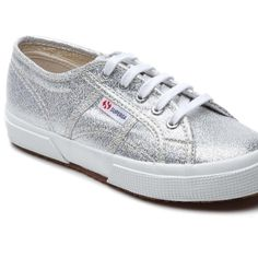 silver glitter supergas worn twice Superga Shoes Sneakers