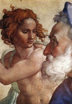 Sistine Chapel - Ezekiel (detail) Michelangelo Buonarroti