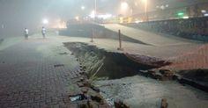 Calçadão de São Conrado, Rio, é interditado após chão ceder