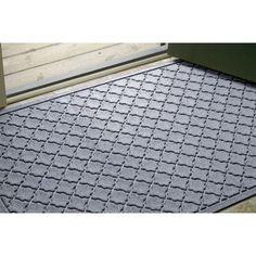 """Bungalow Flooring Aqua Shield Cordova Door Mat Color: Bordeaux, Rug Size: 1'8"""" x 5'"""