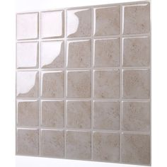 "The premium quality self-adhesive Marmo 10"" x 10"" Peel & Stick Mosaic Tile in Travertine is easy to install. Just peel and stick! The DIY peel and stick tile concept of Tic Tac Tiles is made possible through Tic Tac Technology™ that makes the product very easy to cut, stick and maintain. Tic Tac Tiles can be installed in minutes without any specialized tools over any sleek and clean surface. Tic Tac Tiles can be used to renovate kitchens (for example, back splashes) and bathroom..."