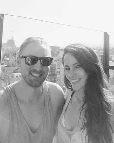 Sunny rooftop with amazing view over Barcelona with @anatorresmodel today -  @pontuskarlzon
