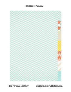 My Planner Envy: Kikki K Style Dividers with Patterned Paper - free printable template