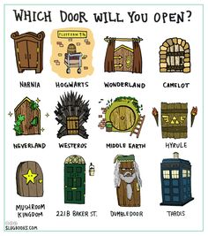 Tardis, because then I can go to Narnia, Hogwarts, Wonderland, Neverland (dumbledoor) AND the Mushroom Kingdom. Plus Doctor Who. Theme Harry Potter, Harry Potter Jokes, Harry Potter Fandom, Harry Porter, Les Orphelins Baudelaire, Citations Film, Tribute Von Panem, Fandom Crossover, Book Memes