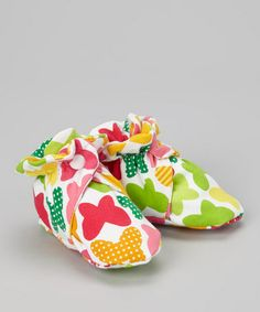 Take a look at this Citrus Butterfly Booties by Bellinni by Bebe Bella Designs on #zulily today!