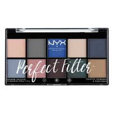 NYX Perfect Filter Shadow Palette Marine Layer
