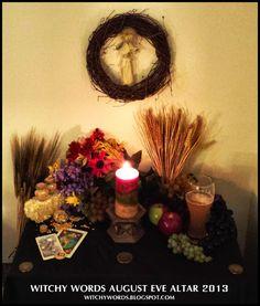 Witchy Words: August Eve / Lammas / Lughnasadh 2013 Altar #wicca #pagan #sabbat