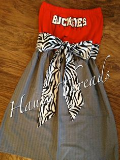 Ohio State BUCKEYES College Gameday Red by hautethreadsboutique, $70.00.  www.hautethreadsboutique.blogspot.com