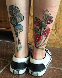Aug 2019 - Leg tattoos is a great choice and idea for both men and women. Discover a timeless selection of the top 100 best badass tattoos for men and women. Leg Tattoo Men, Leg Tattoos, Body Art Tattoos, I Tattoo, Sleeve Tattoos, Cool Tattoos, Tatoos, Tattoos For Guys Badass, Mushroom Tattoos