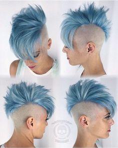 IG: hairgod_zito Ice blue!!! #hairgod_zito #pulpriothair http://www.qunel.com/ fashion street style beauty makeup hair men style womenswear shoes jacket