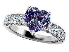 alexandrite and diamond ring-ooh, coming close to perfection!