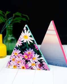 Neon Triangle Photo Frames | Cutie Pie Press | cutiepiepress.com