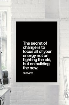 """Socrates Motivational Quote Wall Decor """"The Secret of Change"""" Inspirational Quote Typographical Art Print - DIGITAL DOWNLOAD"""