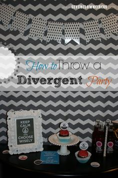 How to Throw a Divergent Birthday Party Birthday Party Ideas For Teens 13th, 13th Birthday Parties, 14th Birthday, Teen Birthday, Divergent Birthday, Divergent Party, Divergent Series, Movie Party, Party Time