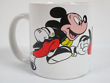 Disney Mickey Mouse 10 oz Coffee Mug Cup White Free Shipping