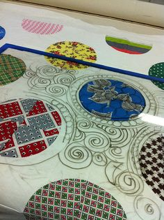 LOVE THIS IDEA! use a piece of plexiglass to try different quilting ideas
