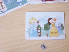Lote 6 postales Cuentos Confundidos por milowcostshop en Etsy Confused tales, set of 6 postcards.