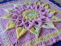 Ravelry: Project Gallery for The Crocodile Flower pattern by Joyce Lewis ~ free pattern + color inspiration by delia.dixon.18