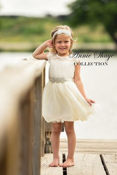 74bf50db7b The Olivia by Annie Shaye Collection - Ivory Flower Girl Dress