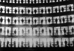Inmates standing in their cells, Prison Presido Modelo, Cuba, 1926