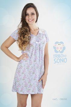 Camisola em malha. www.tribodosono.com.br