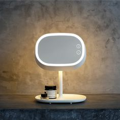 59.95$  Buy now - http://ali8e0.worldwells.pw/go.php?t=32640586782 - portable cosmetic mirror lamp adjustable USB lamp LED bedside lamp charging warm girls gifts