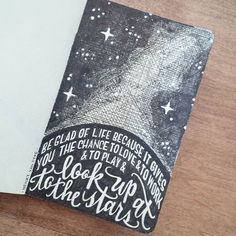 Saw this quote on a card and knew I needed to make my own expression of it. #stargazing is one of those things that fills my soul and puts life in perspective for me. #henryvandyke #bethankful #quotes #favoritequotes #handlettering #handletteredquote #penandink #drawing #penandpaper #blackandwhite #micron #lemonadeletters
