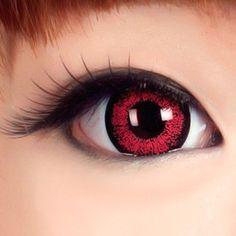 Red Contact Lenses for Jigoku Shoujo cosplay/costume
