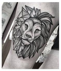 Beste Tattoo Geometrische Muster in Different Ways - Best Tattoos Lion And Lioness Tattoo, Lion Head Tattoos, Mens Lion Tattoo, Lion Tattoos For Men, Trendy Tattoos, Tattoos For Guys, Cool Tattoos, Tatoos, Arm Tattoo