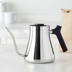 Fellow Pour-Over Kettle with Thermometer, Stainless-Steel