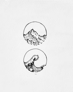 73 Cute and Inspirational Small Tattoos With Meanings 73 Niedliche und inspirierende kleine Tattoos Tattoo Sketches, Tattoo Drawings, Art Drawings, Simple Drawings, Pencil Drawings, Mountain Drawing, Mountain Tattoo, Mountain Art, Small Tattoos With Meaning