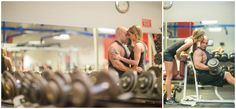 Gym Engagement Photos by ZTS Photo Des Moines Iowa Wedding Photographers Tanner & Sarah Urich http://www.ztsphoto.com