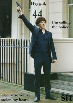 (tags: Hey Girl, Sherlock Holmes, Benedict Cumberbatch, police)