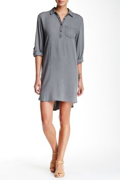 Long Sleeve Shirt Dress by Abound on @nordstrom_rack