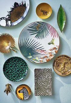 porslin tallrik fat oscar & Clothilde, House of Hackney, Lisa Bengtsson. My Portfolio, Kitsch, Decorating Your Home, Plates, Interior Design, Tableware, Beautiful Things, Lisa, Fat