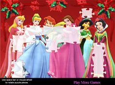 Principesse Disney in un Puzzle di Natale