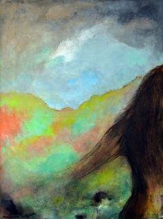 I'm part of nature / Je suis partie de la nature - Painting,  46x61x2 cm ©2015 przez Maga Smolik -  Malarstwo